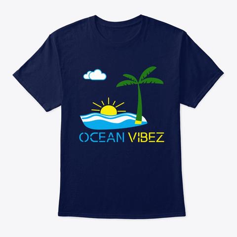 Ocean Vibez Navy T-Shirt Front