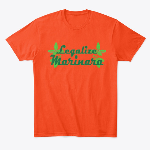 Legalize Marinara Deep Orange  T-Shirt Front