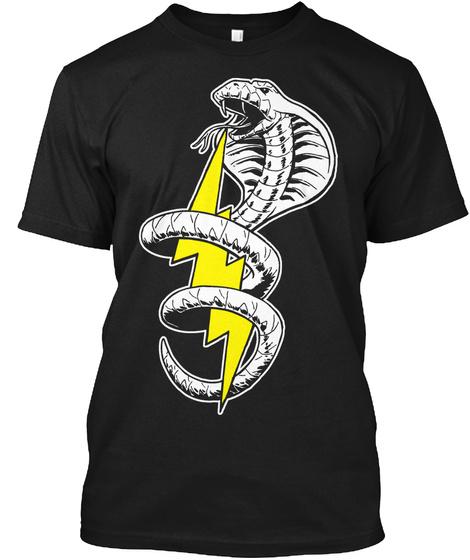 Electric Cobra Black T-Shirt Front