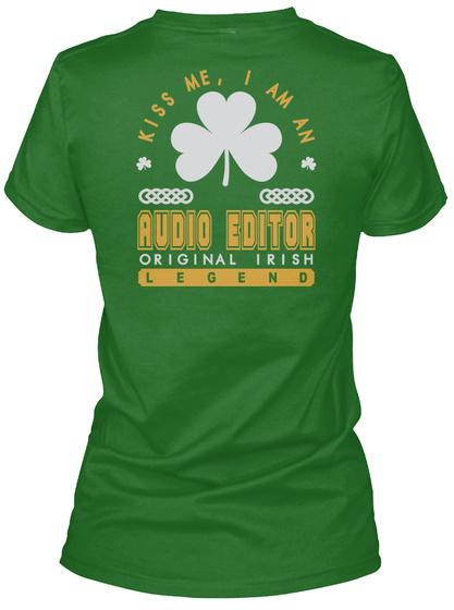 Audio Editor Original Irish Job T Shirts Irish Green Women's T-Shirt Back