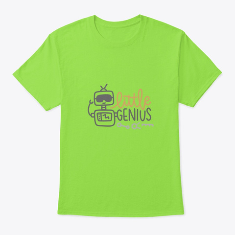 Little Genius Lime T-Shirt Front