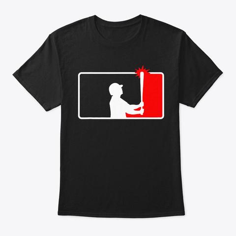 Gardner Banging The Dugout Roof Shirt Black T-Shirt Front