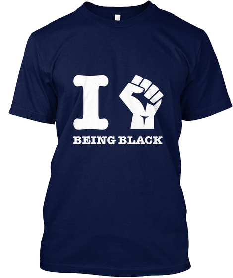 Love My Blackness Navy T-Shirt Front