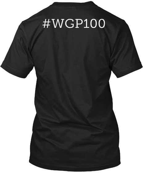 #Wgp100 Black T-Shirt Back