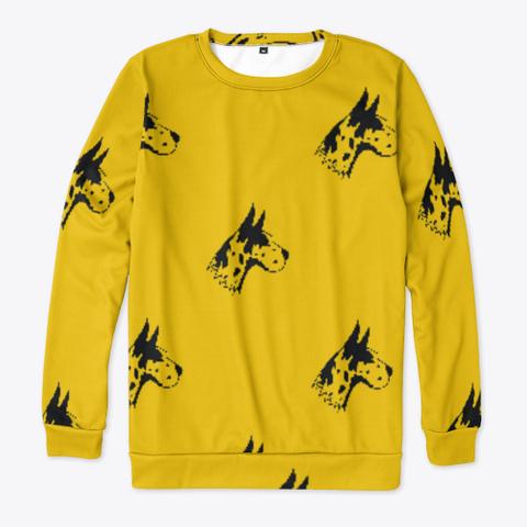 Yellow Great Dane Pattern Sweatshirt Standard T-Shirt Front