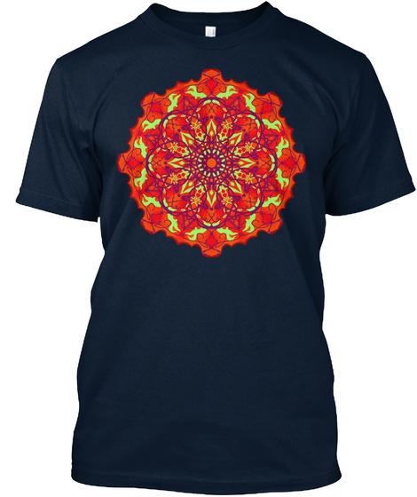 Spiral Art Tee3 New Navy T-Shirt Front