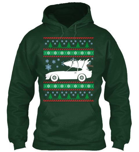 Ugly Christmas 240z Forest Green T-Shirt Front
