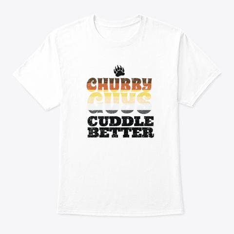 Chubby Guys Cuddle Gay Bear Lgbt Retro White T-Shirt Front