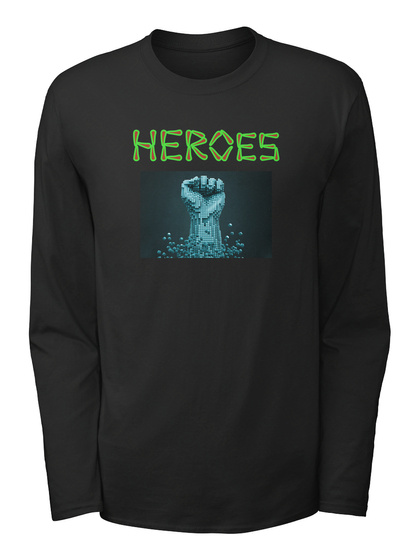 Her Oes Black Long Sleeve T-Shirt Front