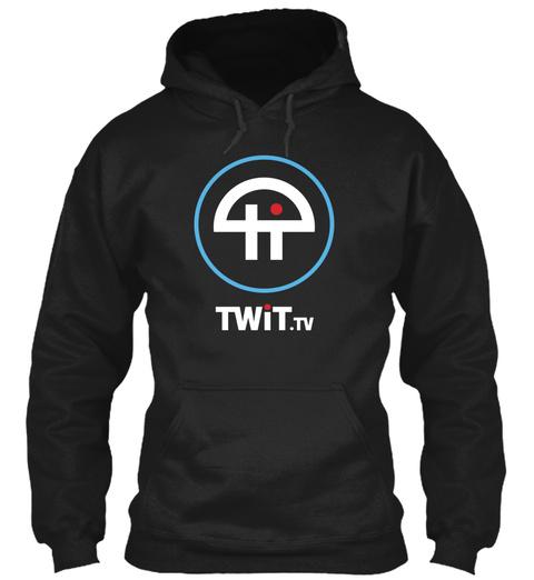 Twit.Tv Black T-Shirt Front