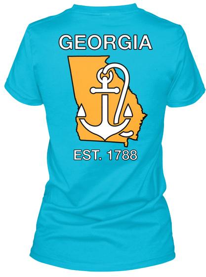Georgia Est. 1788 Turquoise T-Shirt Back
