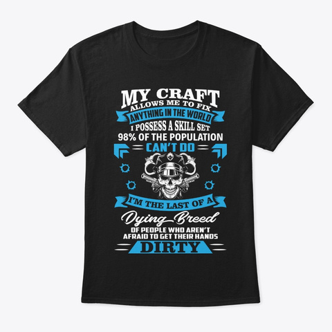 Police Craft Allows Me To Police T Shirt Black T-Shirt Front