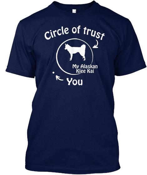 Alaskan Klee Kai Gift Shirt Navy Camiseta Front
