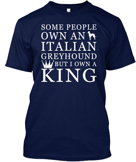 Italian Greyhound Navy T-Shirt Front