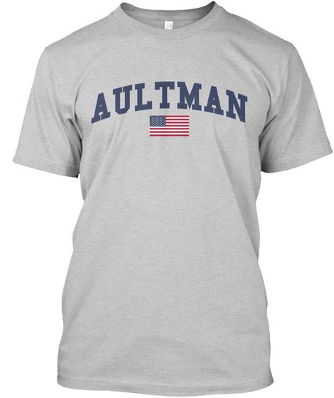 Aultman Family Flag Light Steel T-Shirt Front
