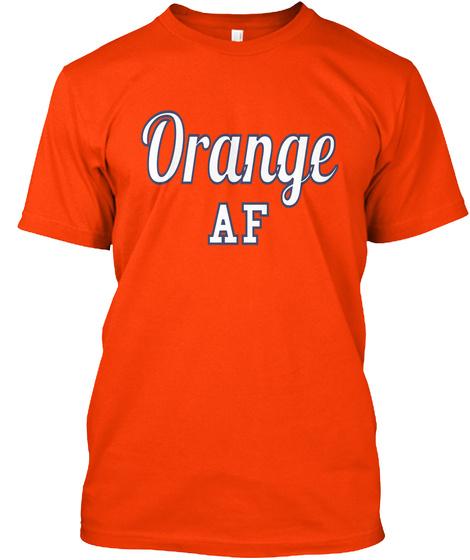 Orange Af Orange Camiseta Front