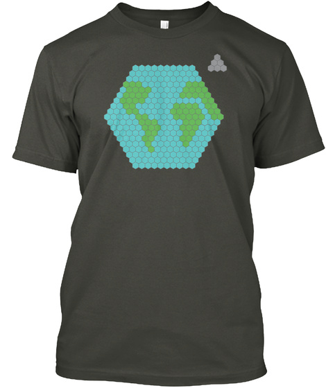 Earth And Moon Smoke Gray T-Shirt Front