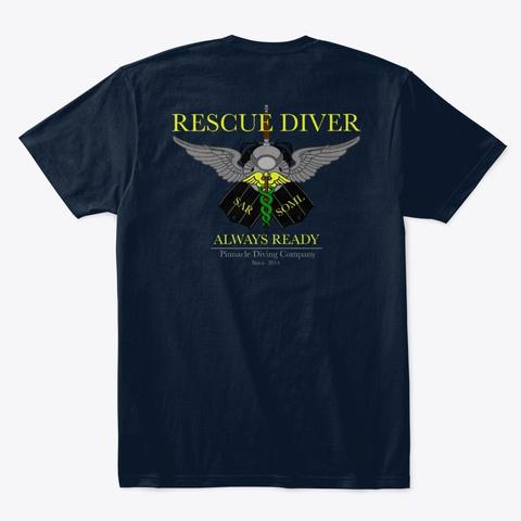 Pdc Rescue Shirt Men's 1 New Navy T-Shirt Back