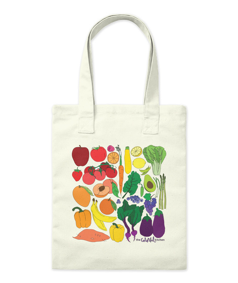 The Colorful Kitchen Natural Tote Bag Front