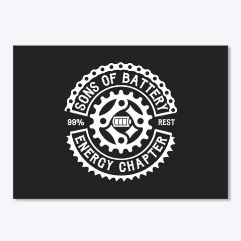 Sons Of Battery  Original Black T-Shirt Front