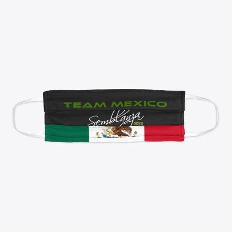 Team Mexico Black T-Shirt Flat