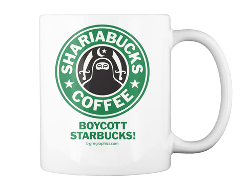 Shariabucks Boycott Starbucks Mug White Mug Back