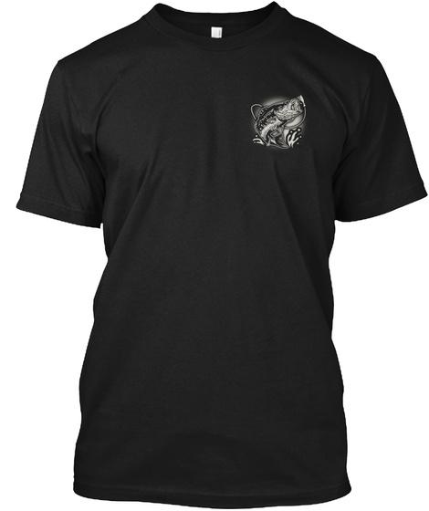 I'm Fishing Black T-Shirt Front