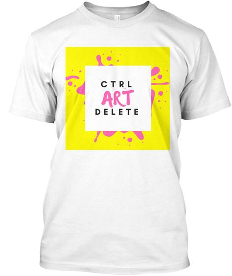 Ctrl Art Delete White T-Shirt Front