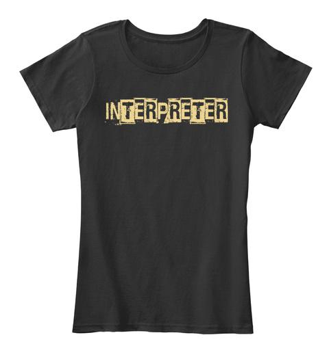 Interpreter Black T-Shirt Front