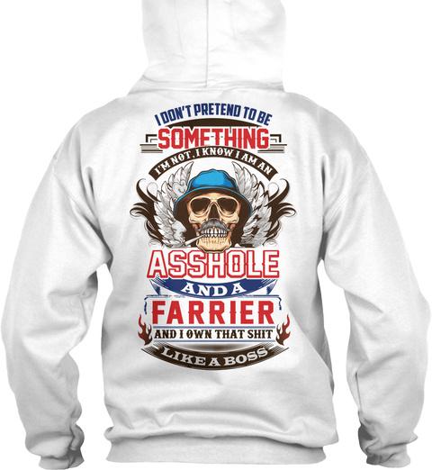 Non Pretending Farrier White T-Shirt Back
