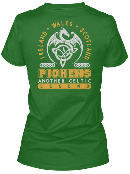 Pickens Another Celtic Thing Shirts Irish Green T-Shirt Back