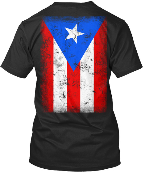 Puerto Rico Black T-Shirt Back