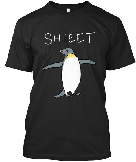 Shieet Black T-Shirt Front
