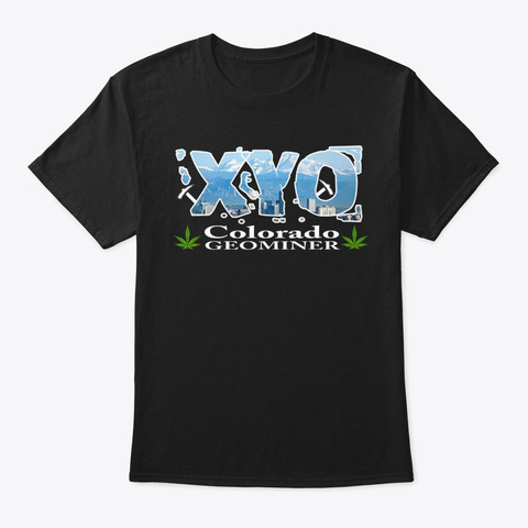 Xyo Colorado Design Black T-Shirt Front