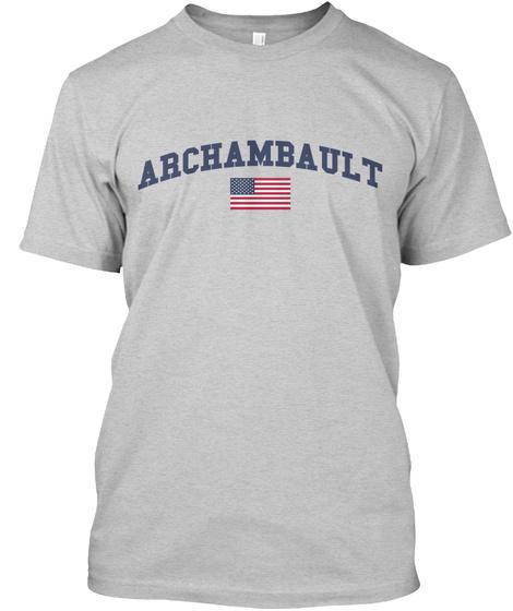 Archambault Family Flag Light Steel T-Shirt Front