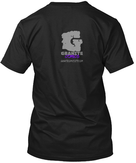 G Granite Comics Black T-Shirt Back