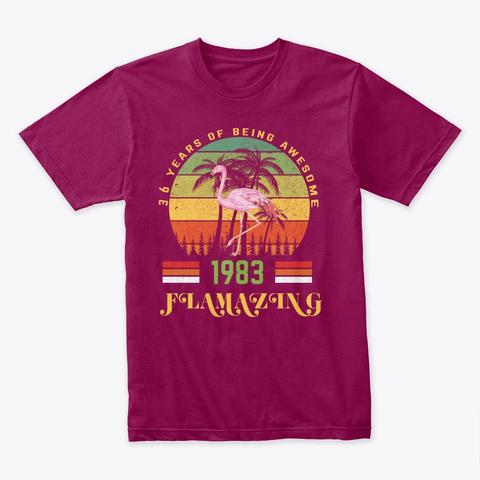 Gift For Girl Birthday 36 Flamingo Shirt Cardinal T-Shirt Front