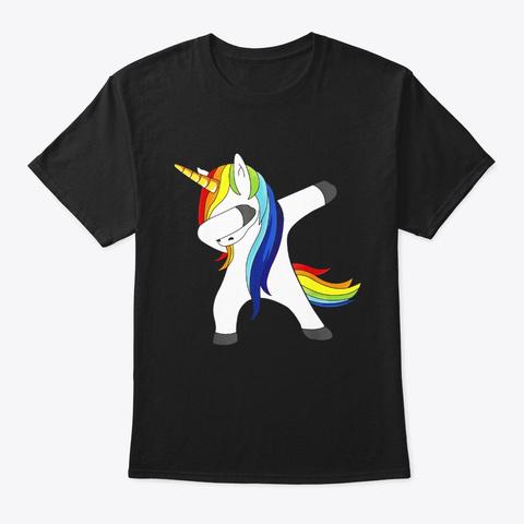Lgbt Pride Gay And Lesbian Unicorn Black T-Shirt Front