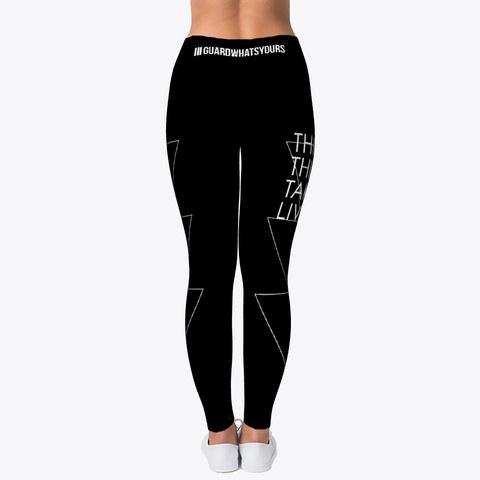 Jiu Jitsu Thick Thighs Triangles   Spats Black T-Shirt Back