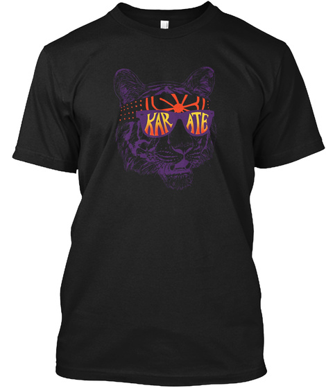 Karate Tiger Black T-Shirt Front