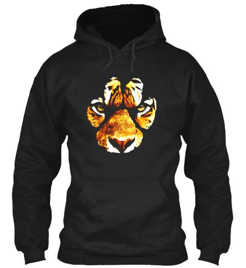 Awesome Tiger Paw Print T Shirt   Mens &Amp; Black T-Shirt Front
