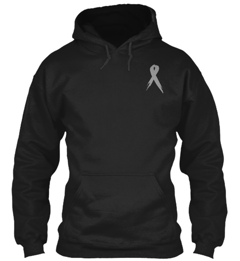 Limited Edition Brain Tumor Awareness Black T-Shirt Front