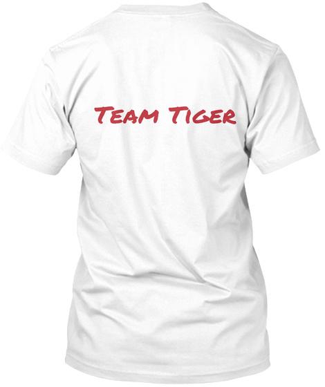 Team Tiger White T-Shirt Back