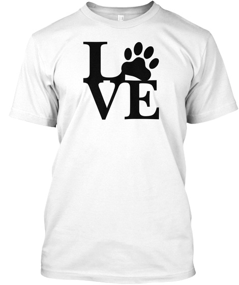 Paw Cat Love  Limited Edition Shirt White T-Shirt Front