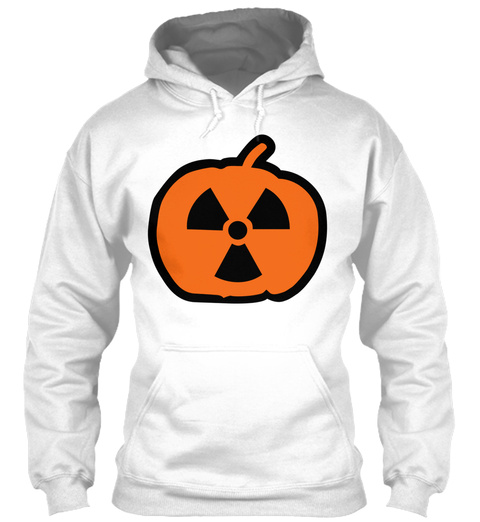 Halloween Radioactive White T-Shirt Front