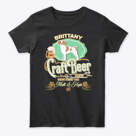 D Brittany Gifts  Black T-Shirt Front