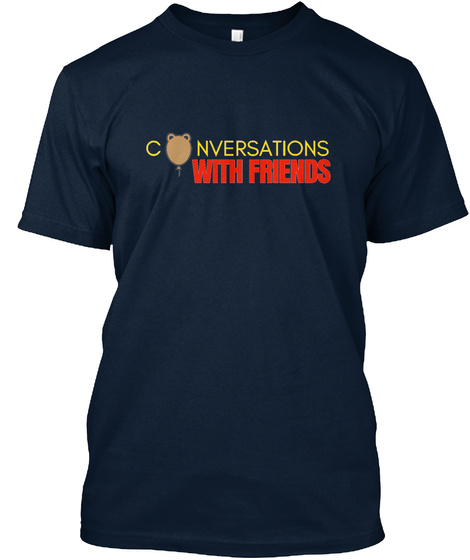 Conversations With Friends New Navy T-Shirt Front