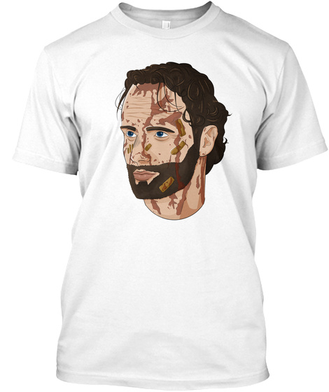 Rick Grimes From Twd White T-Shirt Front