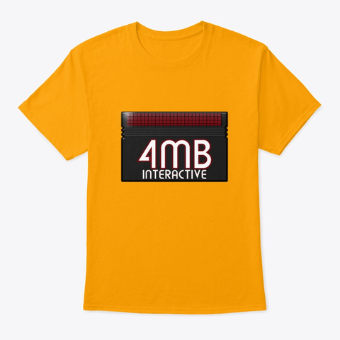 4 Mb Interactive Logo Collection Gold T-Shirt Front