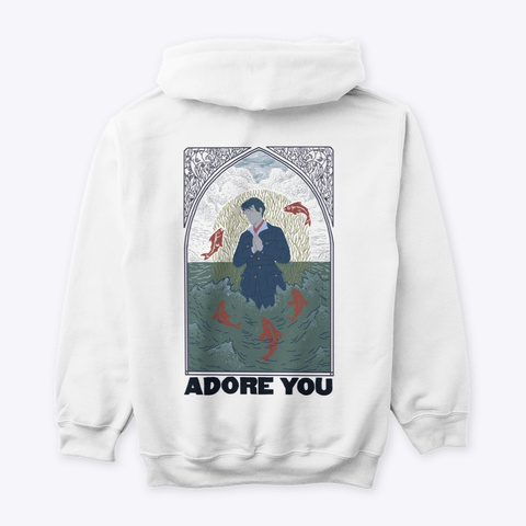Hs Adore You Poster White T-Shirt Back